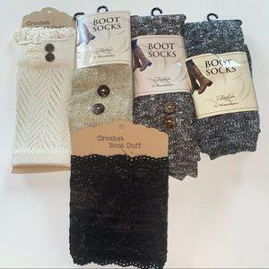Set of 5 Boot Socks brand new